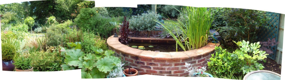 A garden design case study by lovely lovely lovely at for Round garden pond designs