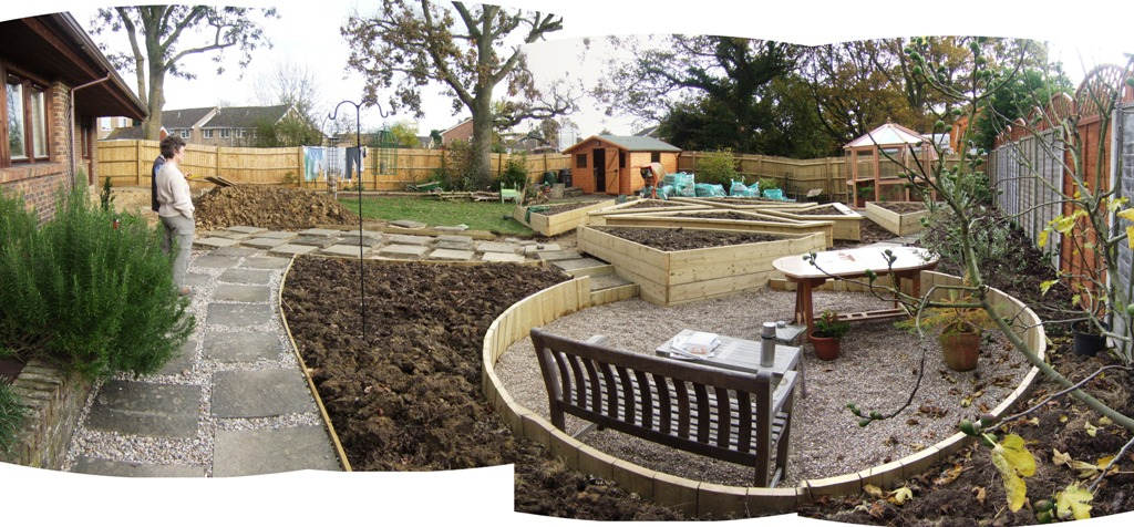 A garden design case study by lovely lovely lovely at for Garden seating areas